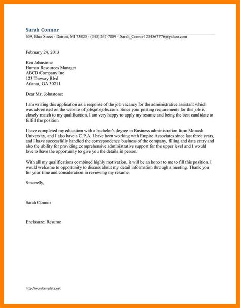 Application Letter For A 4 exles of application letter for a emt resume