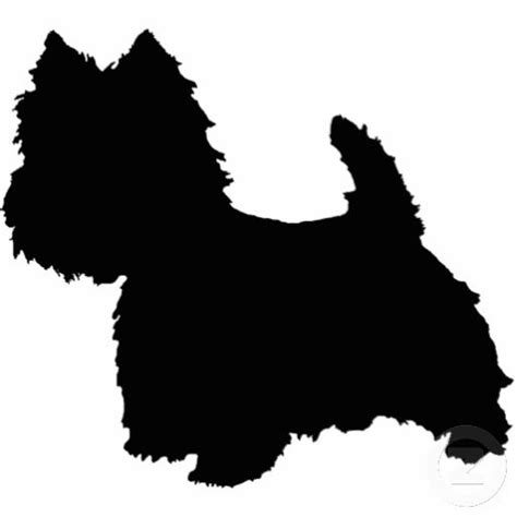 yorkie silhouette west highland white terrier silhouette standing photo sculpture search quilt and minis