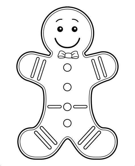 Gingerbread Man Printable Pdf | 15 gingerbread man templates colouring pages free