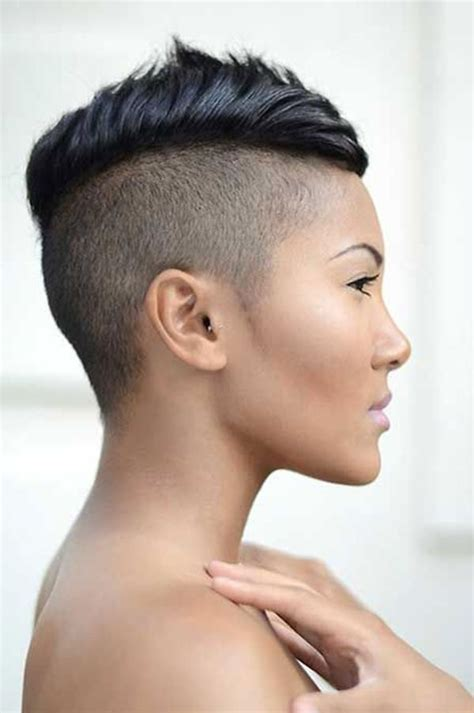 hairstyles for black short hair with boths side and back cut 20 best of short hairstyles with both sides shaved