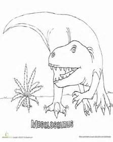 megalosaurus coloring page sketch template