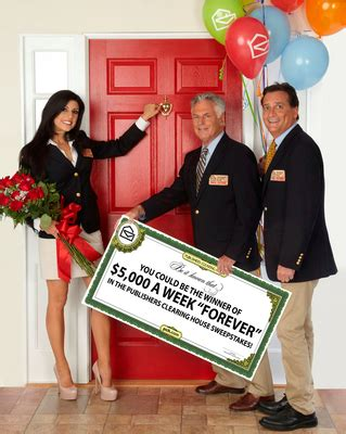 Sweepstakes Clearinghouse Products - publishers clearing house announces unprecedented 5 000 a week forever sweepstakes