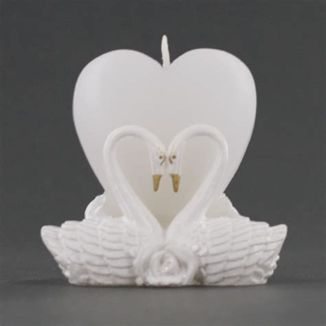 Rhinestone Vases Wholesale Heart Shaped Candle With Pair Of Love Swans Wedding