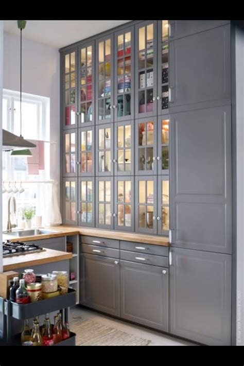 akurum wall cabinets with glass doors look fantastic in