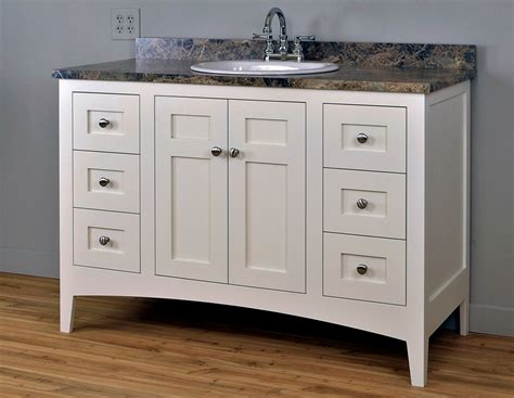 shaker mission style bathroom vanity cabinet by dressendesigns