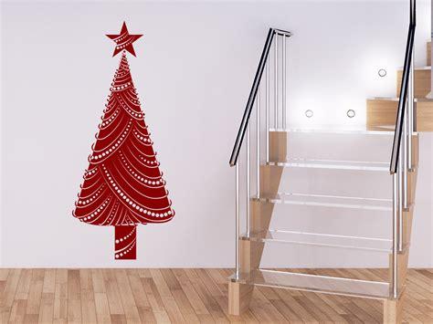 wandtattoo moderner weihnachtsbaum mit stern wandtattoo com