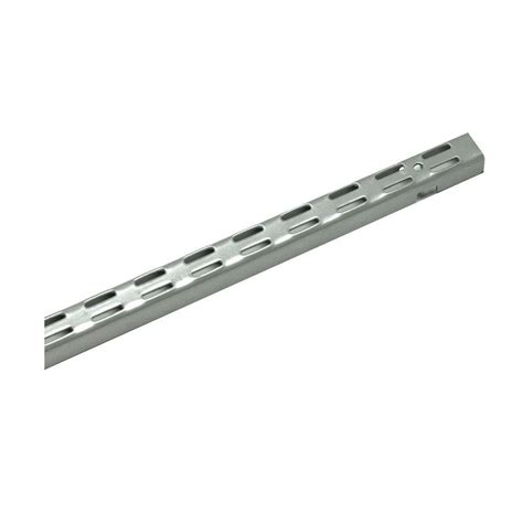 Closetmaid Standards closetmaid shelftrack 60 in x 1 in nickel standard 32808 the home depot