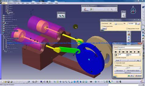 digital mock up design review catia v5 digital mockup dmu kinematics tutorial 4 stroke