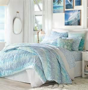 coastal themed bedding beachy coastal bedrooms from pottery barn completely coastal