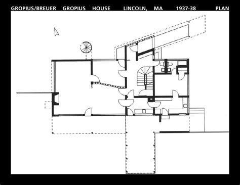gropius house floor plan gropius house plans house design plans