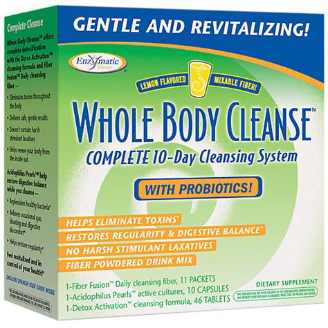 Jillian Detox And Cleanse Kit With Probiotic by 763948074501 Upc Enzymatic Therapy Whole Cleanse Tm