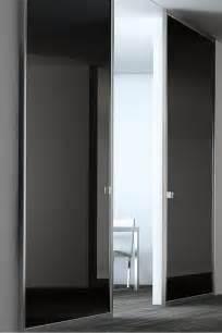 Contemporary Glass Panel Interior Doors Black Lacquer Glass Panel Door Stainless Steel By Modernus Doors Gates Windows
