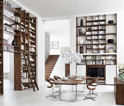 luxury contemporary bookcases cubus team 7 wharfside