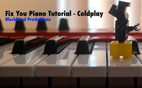 tutorial gitar fix you fix you piano tutorial coldplay youtube