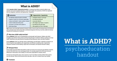 what is add adhd worksheet therapist aid