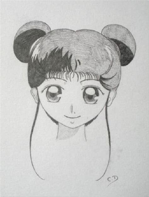 Dessin Fille Avec Couettes by Dessin Shojo Quot Fille Aux Couettes Quot Drawing