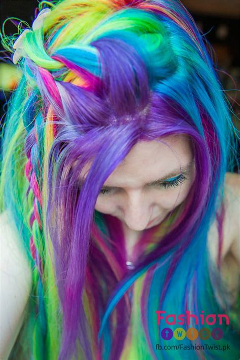 dyed hairstyles 2016 bright rainbow hair colors new hair dye trend of 2016