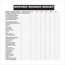 business plan expenses template monthly business budget and expense sheet template sle