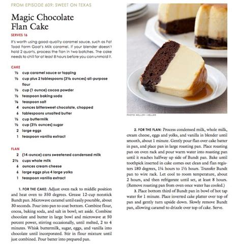 Test Kitchen The Internets Most Chocolate Cake by America S Test Kitchen Cook S Country Magic Chocolate Flan