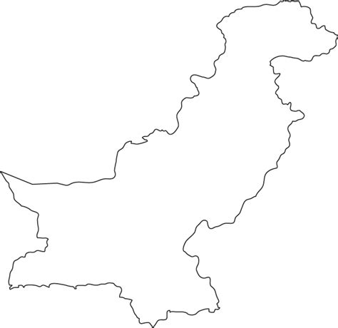 labeled outline map rivers homeschool geography pakistan outline map