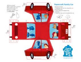 paper cars template larry papercraft car larry gets lost
