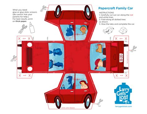 Paper Car Craft - larry papercraft car larry gets lost