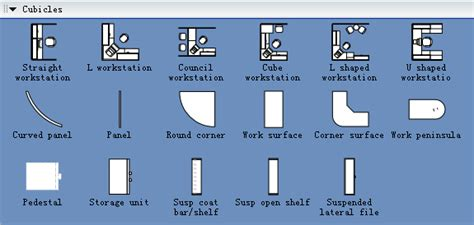 Cubicles Symbols For Building Plan Cubicle Seating Chart Template