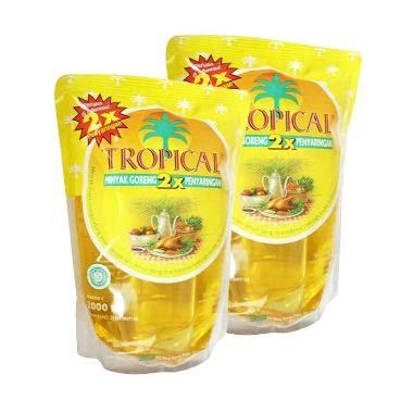 Minyak Tropical 2 Liter Di jual tropical minyak goreng 2 liter 2 pouch harga kualitas terjamin blibli