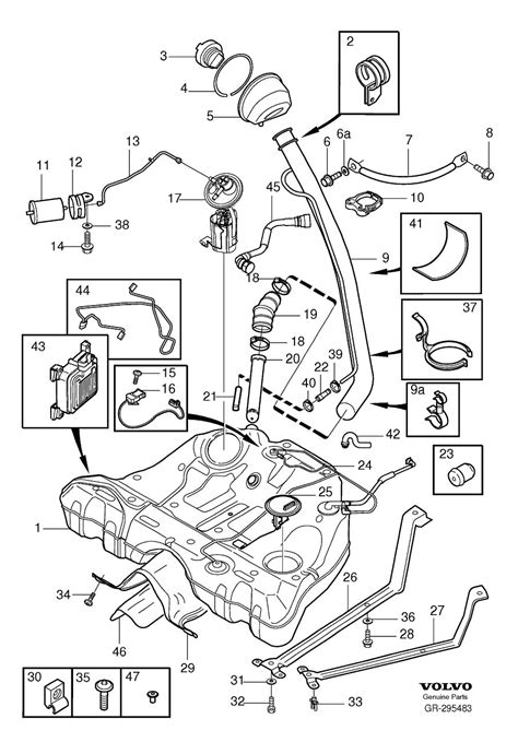 volvo s60 parts diagram where is fuel located on 2004 volvo s60 i ve looked