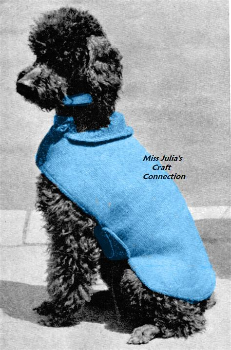 pattern for dog sweaters free miss julia s patterns free patterns 20 dog sweater