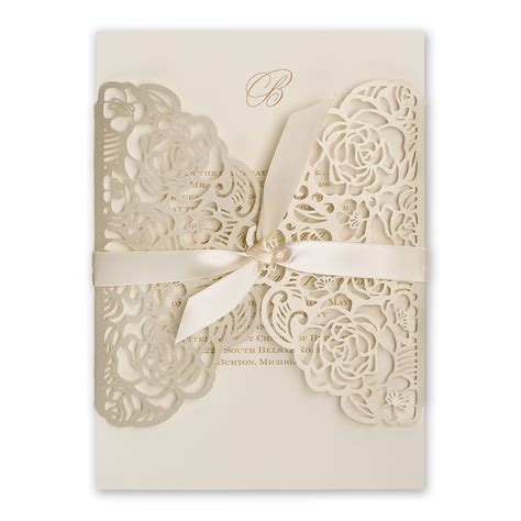 Gold And White Wedding Invitations