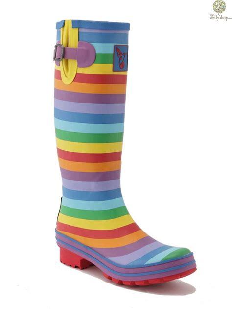 rainbow boots evercreatures rainbow wellington boots