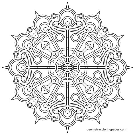 Geometric Mandala Coloring Pages Coloring Home Mandala Coloring Book For