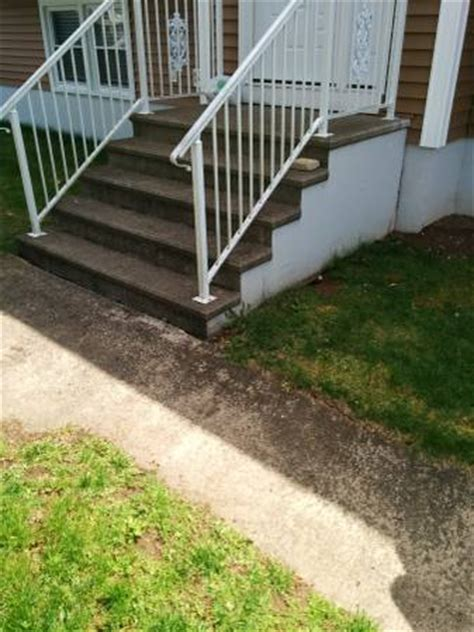 replace concrete steps with wood doityourself