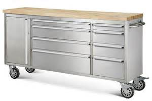 rolling tool bench 72 quot hyxion stainless steel rolling tool chest cart bench w