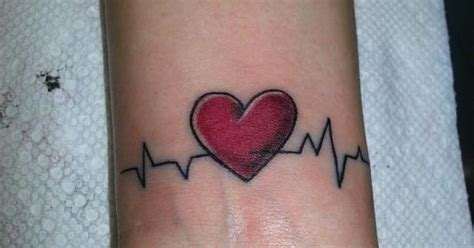 ekg tattoo placement ekg tattoo sans heart different placement use initial