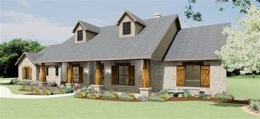 Country House Plans Hill Country Ranch S2786l House Plans
