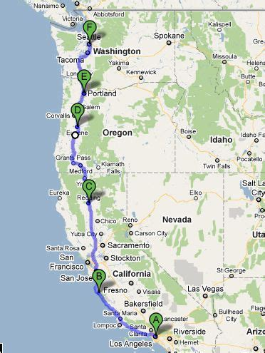 usa west coast road trip maps united states big sur road trips and trips