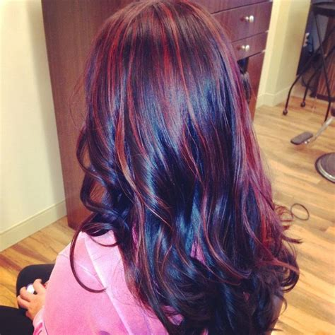 cute burgundy highlights hottest hair highlights for 2014 hairstyle trends
