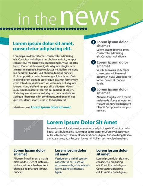newsletter layout templates free newsletter template layout stock vector 169 rmackayphoto