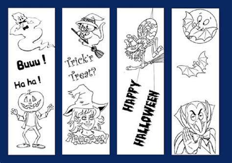 printable pumpkin bookmarks 5 best images of printable halloween bookmark coloring