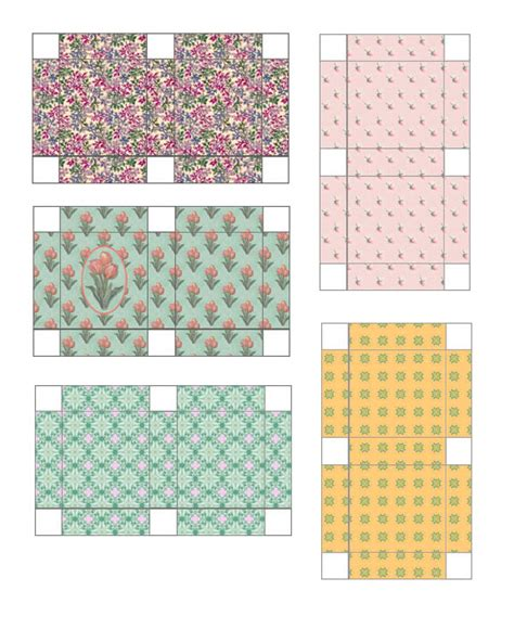 templates for miniature boxes free dollhouse printable miniature gift boxes miniature