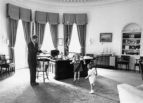 Kennedy Oval Office by The History Place Special Feature John F Kennedy Jr