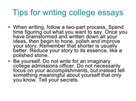 Tips On Writing College Essays by College Essay Tips By Jeanne