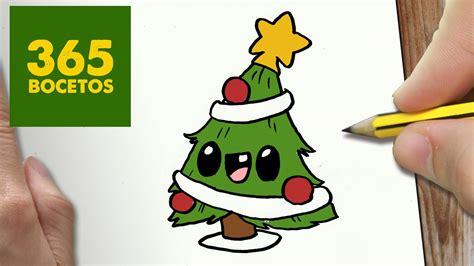 dibujar arbol navidad como dibujar arbol navidad kawaii paso a paso dibujos