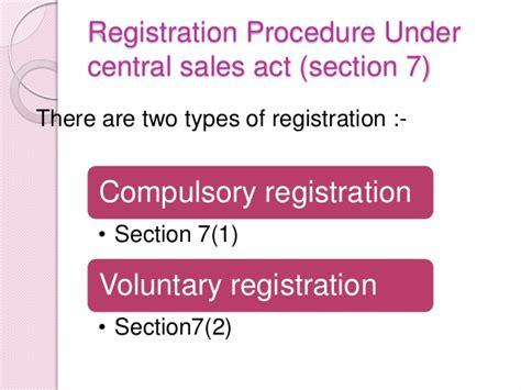 sales section 52984075 registration procedure under central sales act