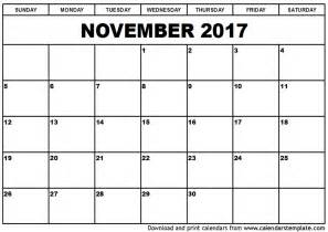 calendar template november november 2017 calendar weekly calendar template