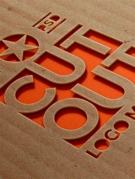 creative cardboard logo mockups psd