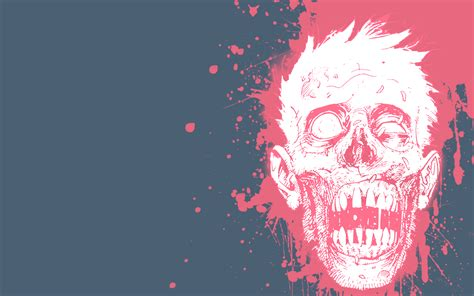 Pink Zombie Wallpaper | pink blood zombie by daver on deviantart