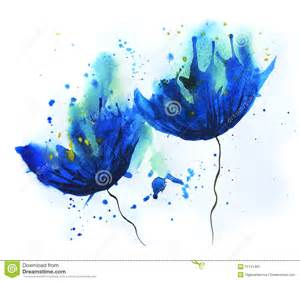 Blue Sketch watercolor cornflower stock illustration image 51141481